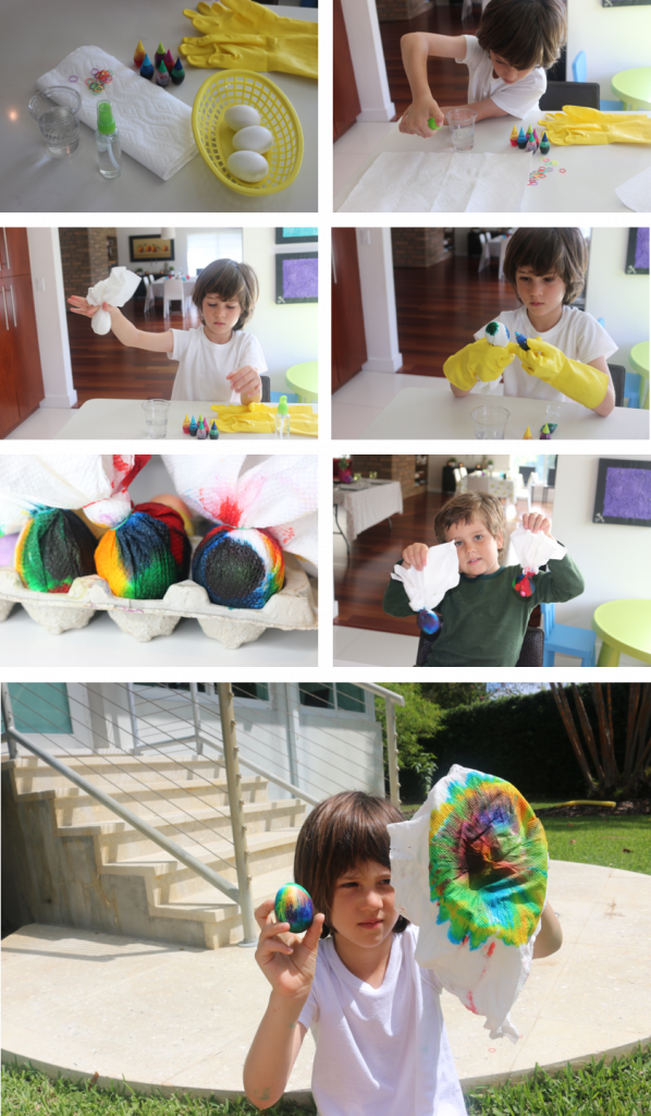 STEP BY STEP FOR TYE DYE EASTER EGGS